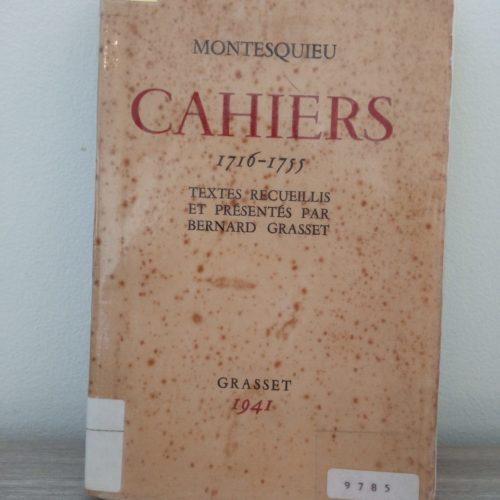 Cahiers 1716-1755